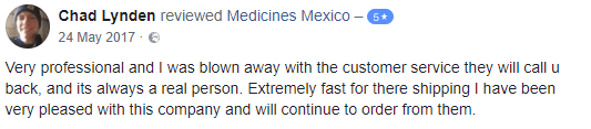 Mexican Pharmacy Testimonial