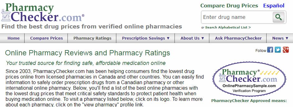 Pharmacy Checker Disclaimer