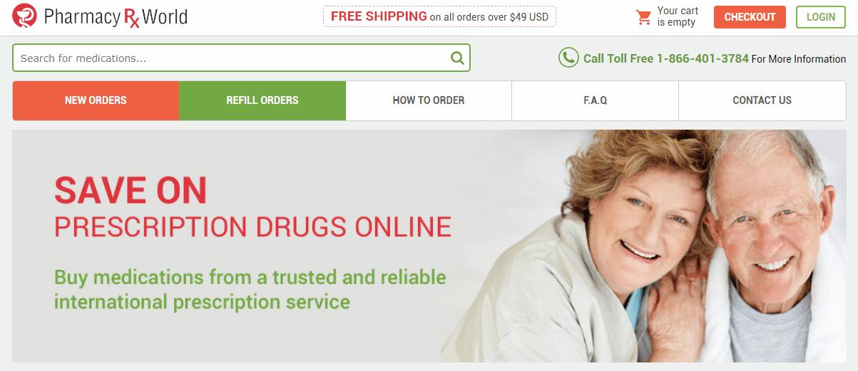 Pharmacy Rx World Homepage