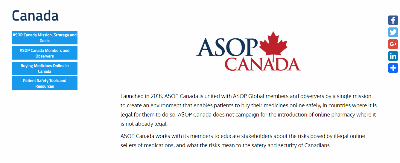 ASOPs Page for Canada