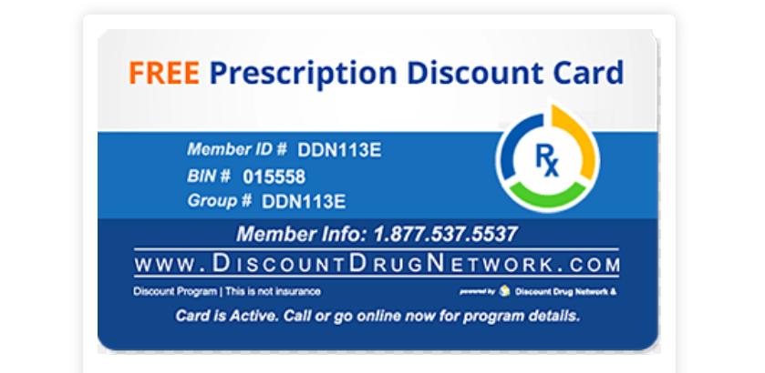 A Prescription Discount Card