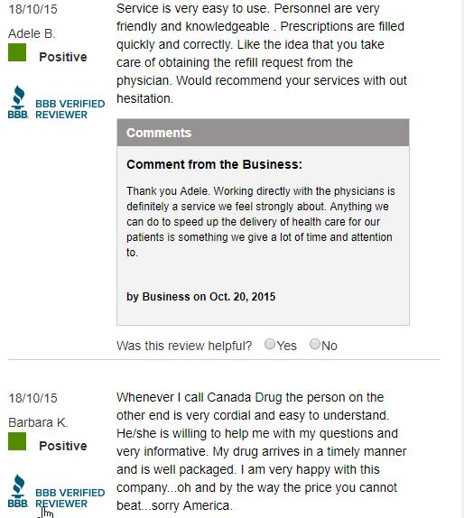 Legitimate Drug Stores User Comments