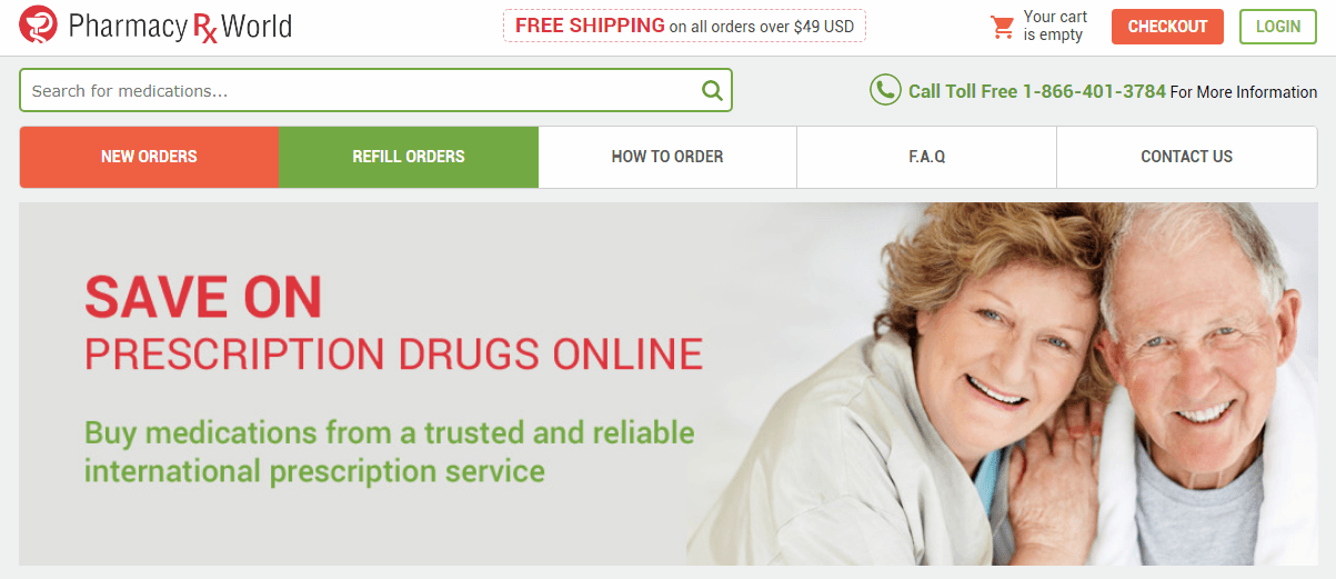 Pharmacy Rx World Homepage