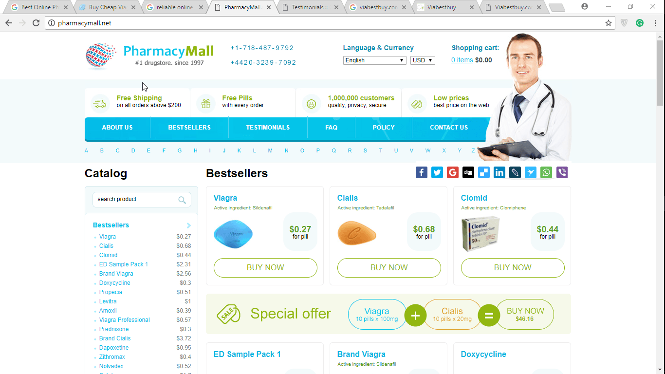 Pharmacy Mall Main Page
