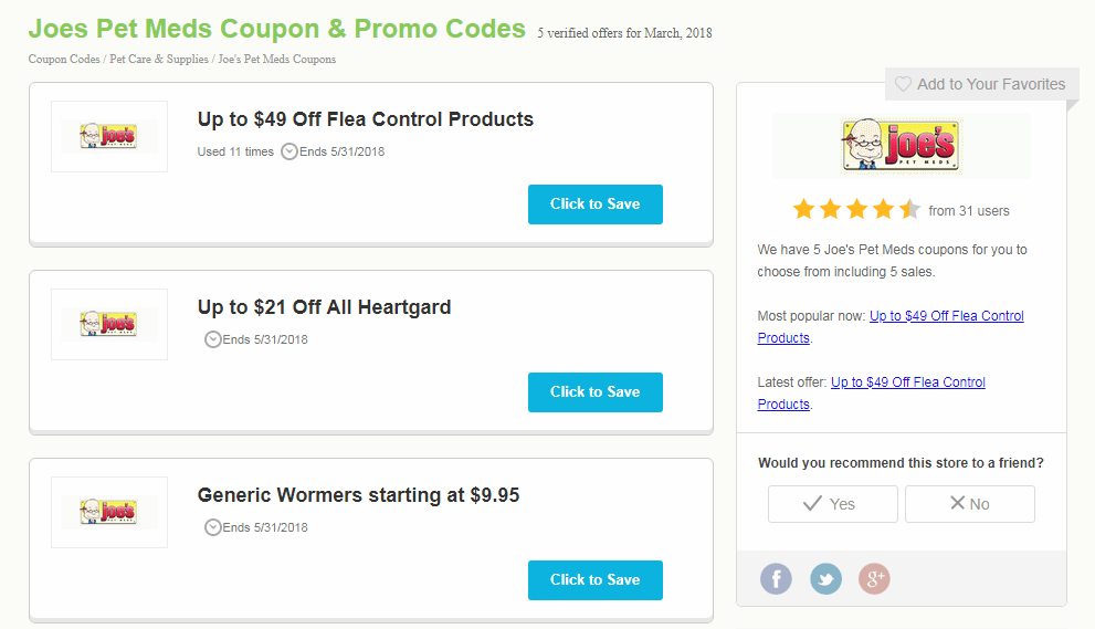 Coupons for Good Deals on Pet Products